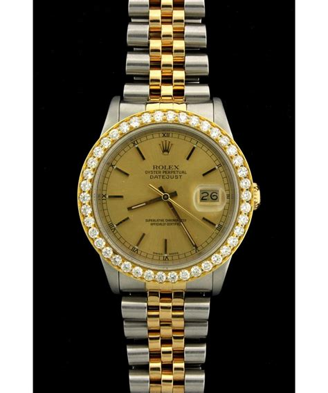 rolex mens st steel 18ky rolex o p datejust wristwatch