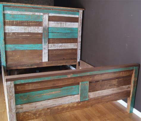 beach style beds shabby chic reclaimed queen bed set by furniture farm