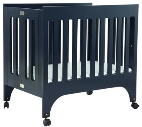 modern mini crib babyletto grayson mini crib with pad navy modern