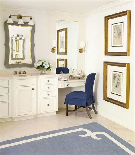 navy vanity drop down make up vanity with navy pleated chair