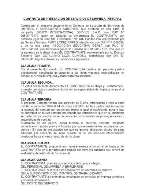 modelo de adenda de contrato 2016 news and events modelo de contratos de limpieza