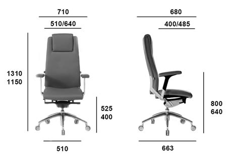 Office Chair Measurements by Italian Executive Leather And Netweave Office Chairs From