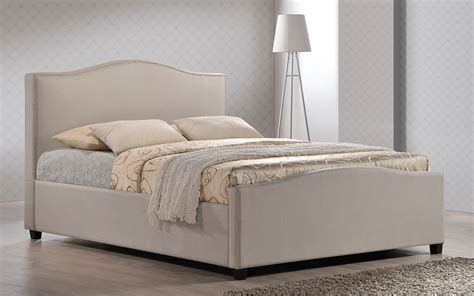 4ft Headboards Shop by Chrome Studded Sand Fabric Bed Frame 4ft 6 Free