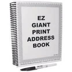 how to print address book addresses it still works ez giant print address book large print address books