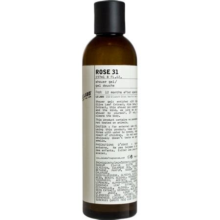 le labo 31 shower gel packaging para liquidos