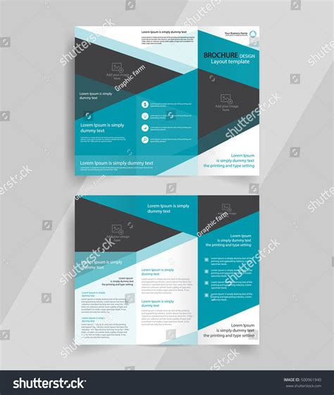 layout design brochure business trifold brochure layout design vector stock
