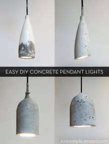 how to make pendant lights how to make easy modern diy concrete pendant lights