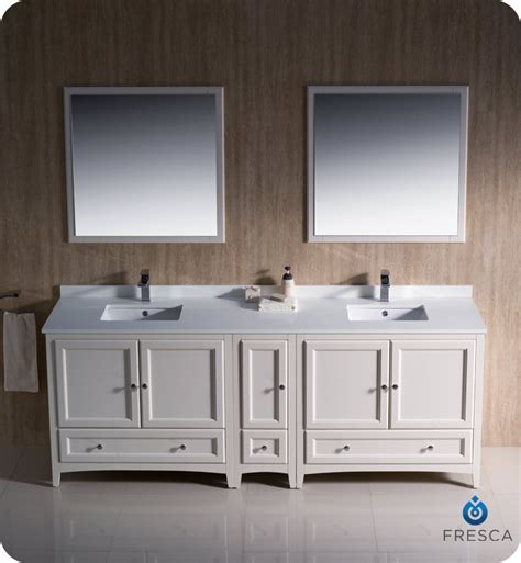 84 bathroom vanity sink fresca oxford collection 84 quot antique white traditional