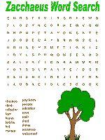 dltk bible stories zacchaeus word search puzzles