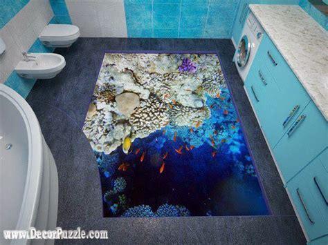 3D bathroom floor murals designs and self leveling floors