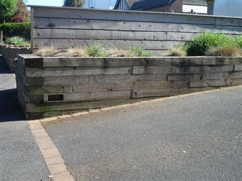 Railway Sleepers Retaining Wall by Open Garden Retaining Walls From Railway Sleepers
