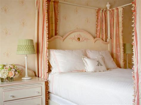 little girl canopy bed curtains photo page hgtv