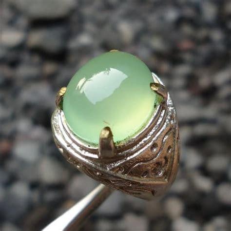 Batu Akik Chalcedony Lafadz Allah batu akik bertuah hijau pusaka dunia