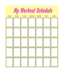 blank workout schedule template eoua blog