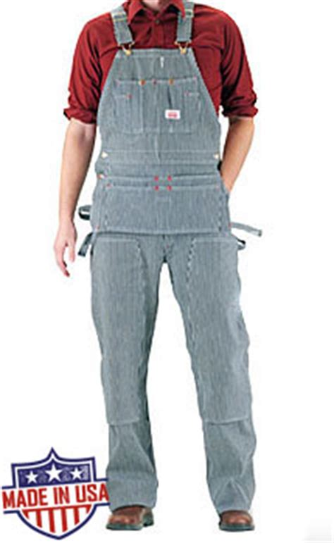 round house overalls round house american made carpenter overalls hickory stripe 55 98 free shipping