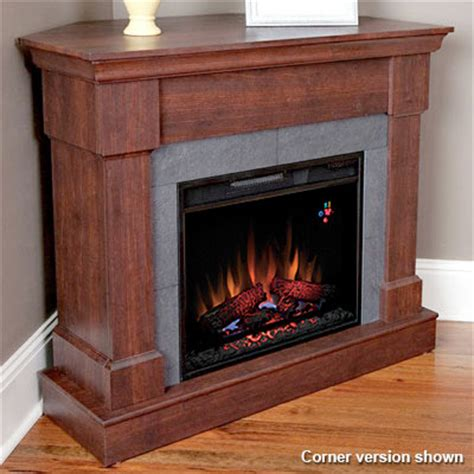 franklin wall or corner electric fireplace in roasted