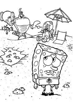 spongebob zombie coloring page the bald headed zombie coloring pages halloween cartoon
