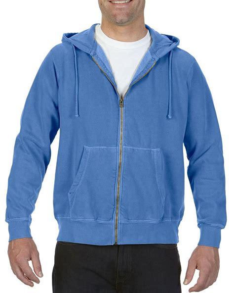 flo blue comfort colors comfort colors 1568 9 5 oz zip hooded sweatshirt