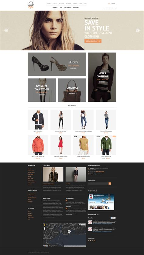 15 Freshest Magento Themes Free Templates Online Magento Website Templates