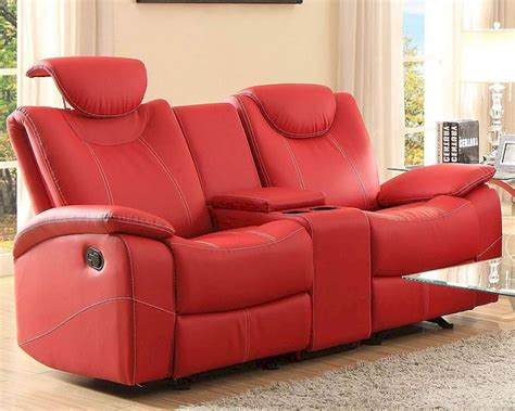 glider sofa red double glider reclining loveseat talbot by homelegance