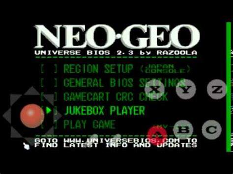 tiger arcade apk bios tiger arcade modo consola neogeo y cheats android