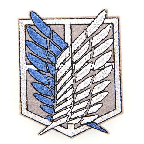 Snk Scouting Legion Emblem Frame anime shingeki no kyojin attack on titan scouting legion logo emblem patch badge ebay