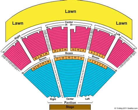 bbt center seating chart camden bb t pavilion seating chart with seat numbers