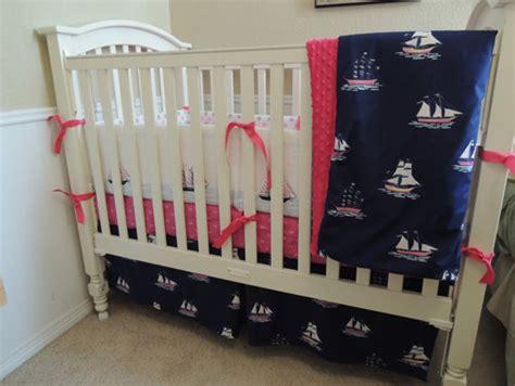 Sail Away Crib Bedding Nautical Sail Away Baby Bedding Set Babylovin