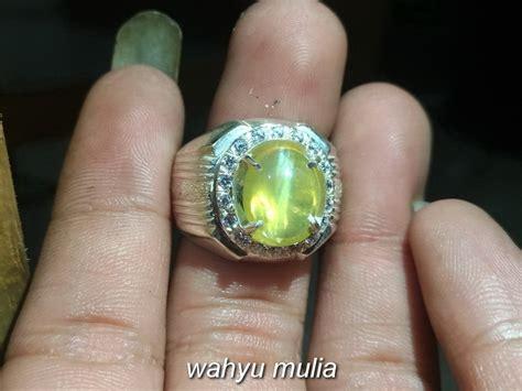 Batu Opal Cat Eye batu cincin yellow opal cat eye asli kode 786 wahyu mulia