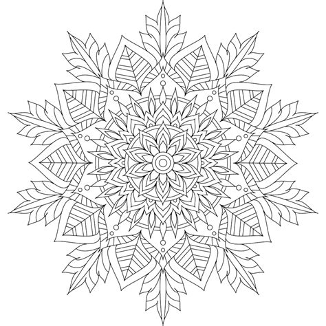 blank snowflake coloring page this is winter soul one of over 100 printable mandalas