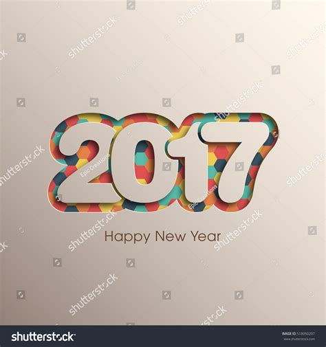 happy new year text vector happy new year 2017 text design vector 518050207