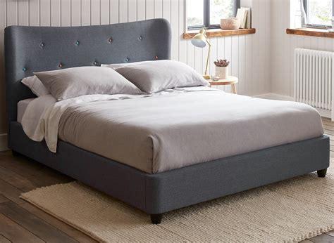 Bed Frames Dreams Warne Grey Fabric Upholstered Bed Frame Dreams