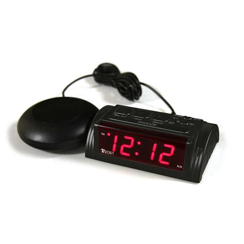 krown vibealert vibrating clock with bed shaker harris communications