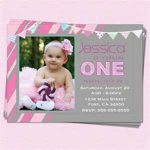 1st birthday invitations modern one year by cupcakedream