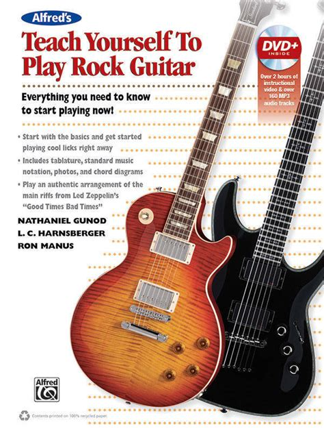 guitar book for beginners teach yourself how to play guitar songs guitar chords theory technique book lessons books alfred publishing teach yourself to play rock guitar