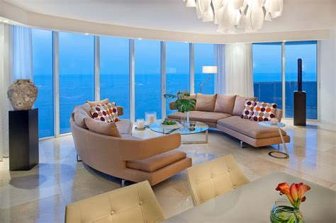 ocean penthouse miami beach contemporary living room luxury ocean front living sunny isles beach