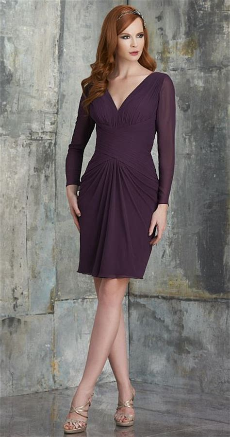 V Bj Rina Wolfis bari 535 sleeve v neck chiffon bridesmaid dress novelty