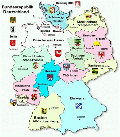 map deutschland germany bundeslaender deutschland map
