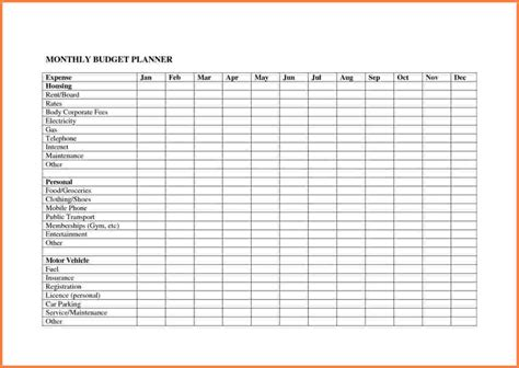 Bill Budget Template by 4 Bill Spreadsheet Template Excel Spreadsheets