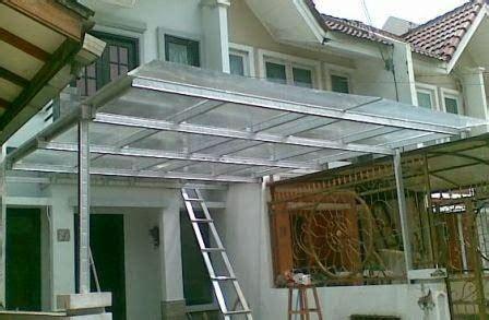 Kanopi Baja Ringan Atap Upvc Minimalis Tiang Cat Sales pasang canopy baja ringan di jabotabek karawang dan
