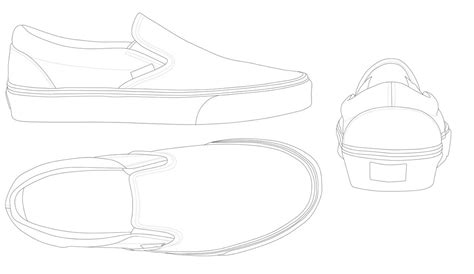 vans slip on template by katus nemcu on deviantart