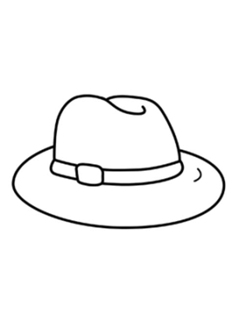 fedora hat coloring page fedora hat drawing sketch coloring page