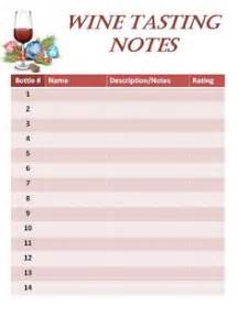 wine tasting journal template score card exle with explanations for a blind wine