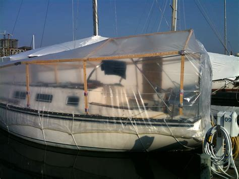 deck boat wraps how to shrink wrap your boat for winter ragged sails