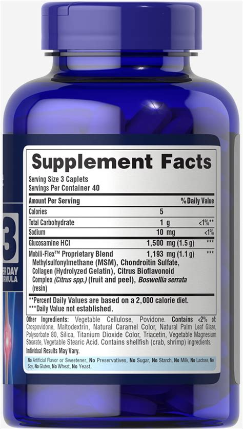Glucosamine Chondroitin Msm 60 Caplets strength glucosamine chondroitin msm joint soother 174 60 caplets joint support