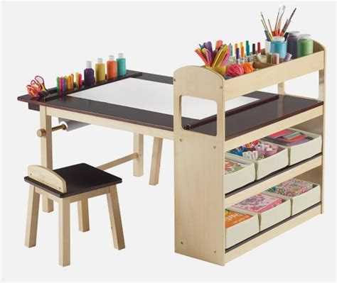 Kid Table by Fully Equipped Drawing Table For Deluxe Center