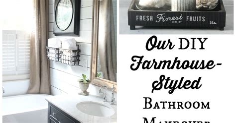 Bathroom Ideas For Remodeling by Our Diy Farmhouse Styled Master Bathroom Renovation