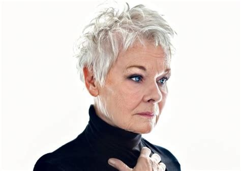 judith dench haircut back of head judi dench short hairstyle 2013