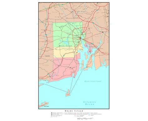 road island usa map maps of rhode island state collection of detailed maps