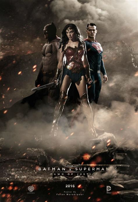 dawn of justice batman v superman fan made posters for batman v superman featuring gal gadot